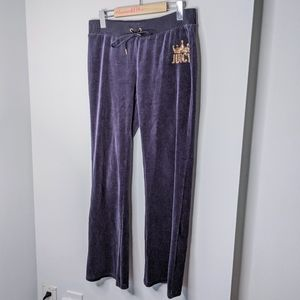 Juicy Couture Y2K velour track pants size medium